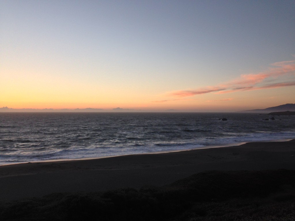Beautiful sunset just before I arrived at Bodega Bay